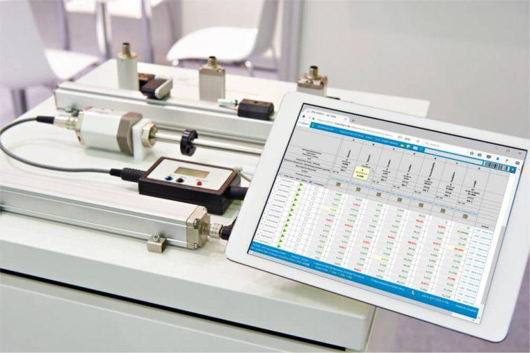 与 Transfact 系统连接的测量设备
